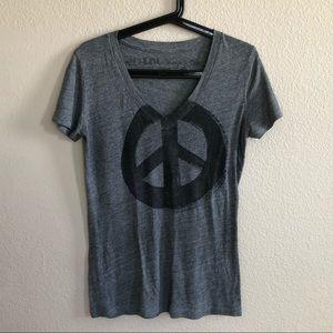Peace v neck T-shirt